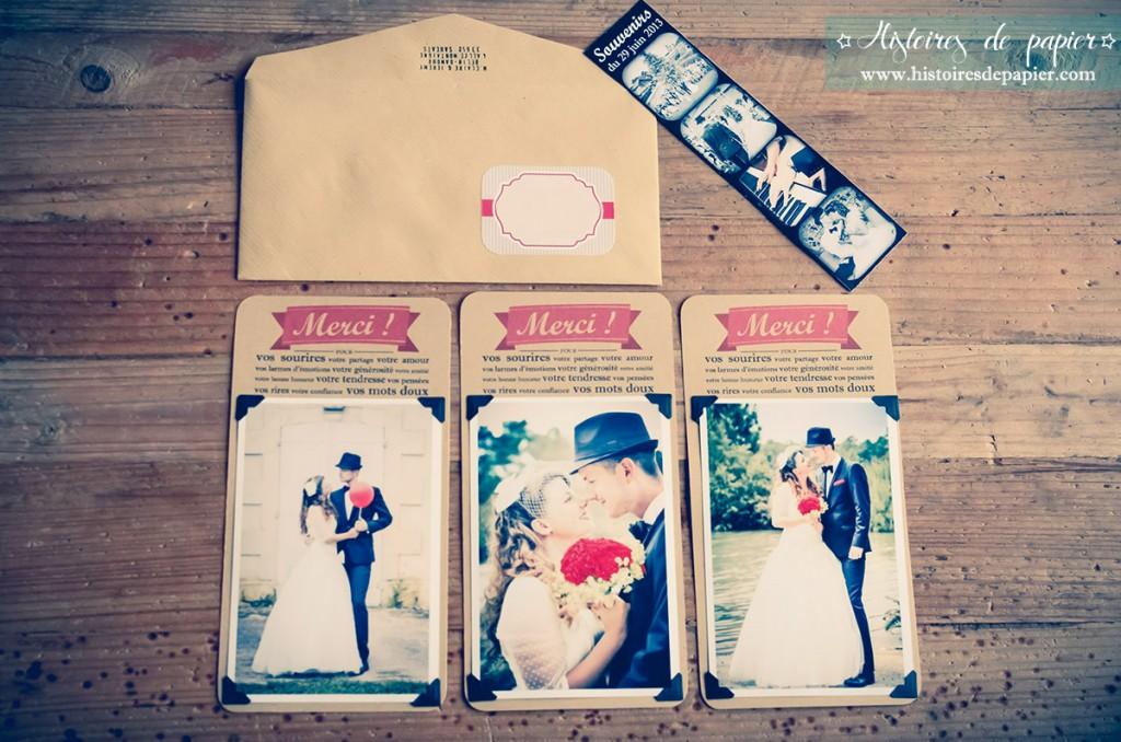 Cartes de remerciement mariage MC&J