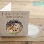 Faire-part de mariage Julie et Damien
