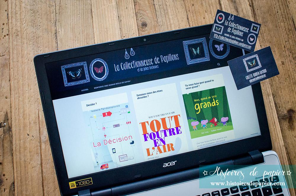 Cartes de visite blogueuse