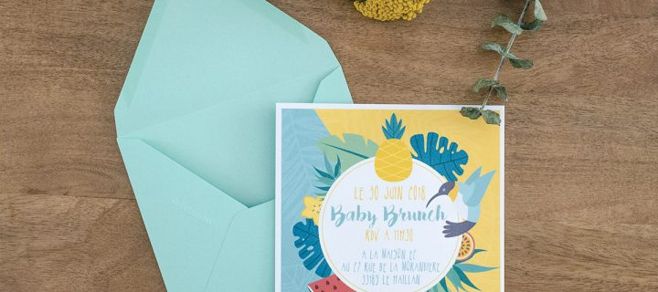 Invitation Baby brunch
